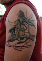 Ghost in the shell tattoo by aliensatemyhead