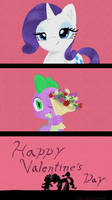 Happy Valentine's Day Spike and Rarity