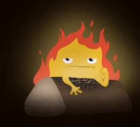 Grumpy Fire Boi by Imaplatypus