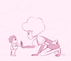 Mother and Son sketch by Imaplatypus