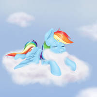 Rainbow in the Clouds by Imaplatypus