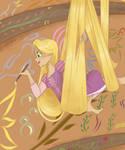 Rapunzel Painting by Imaplatypus