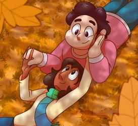 Enjoying a Lovely Autumn Day