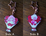 Rose Quartz and Pink Diamond Double-Sided Keychain by Imaplatypus