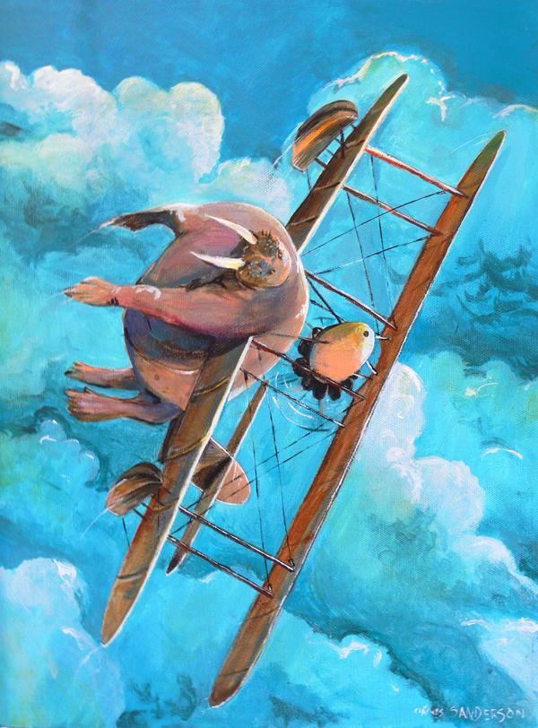 Flying Walrus by turpentyne