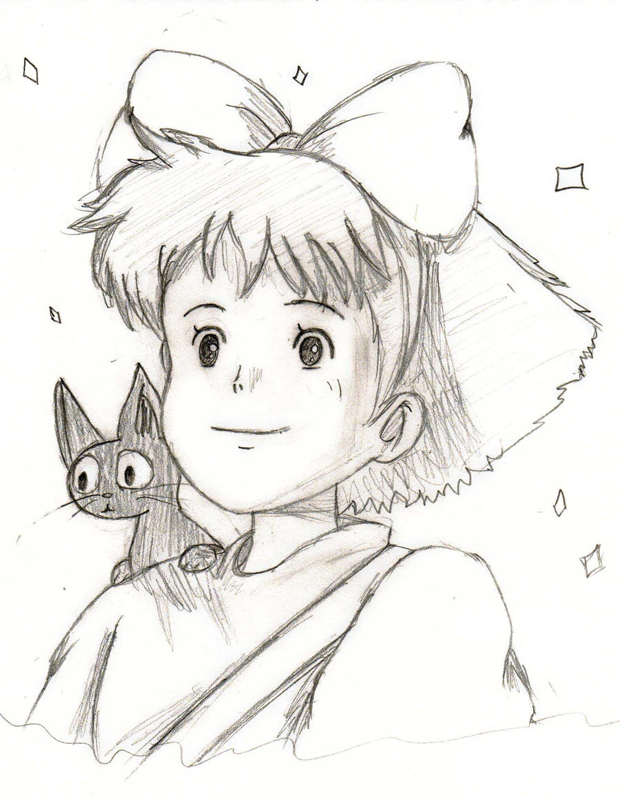 Kiki and jiji by michiru42 on deviantart for Kiki s delivery service coloring pages