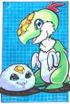 Partner Digimon Challenge - Nuggimon and Kidkenmon by RasglowReborn