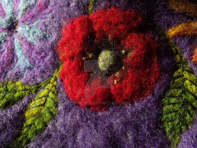 Poppy embroidery on cat cave by Neyrelle