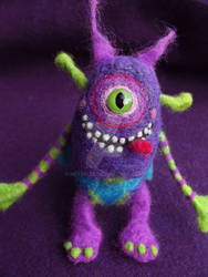 Felted Silly Monster