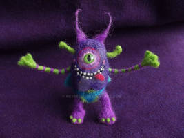 Felted silly monster 2