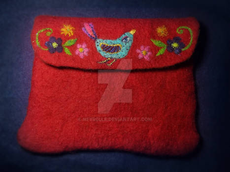 Felted pouch
