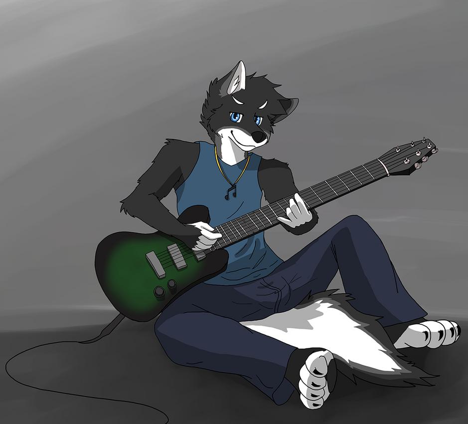 Guitar Husky by afoxen