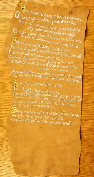 Emerald Tablet Scroll