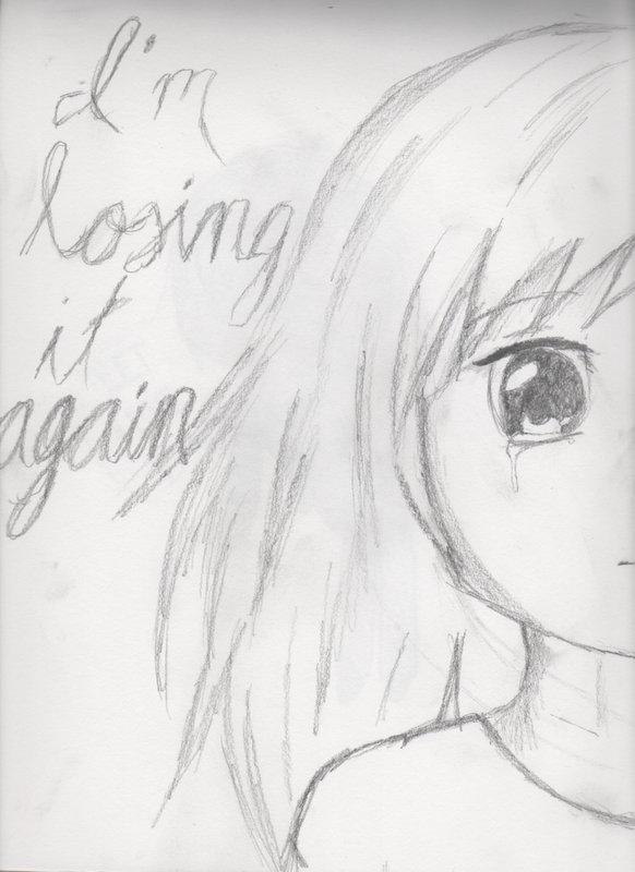 Depression drawing by xXxVOCALOIDxXx on DeviantArt