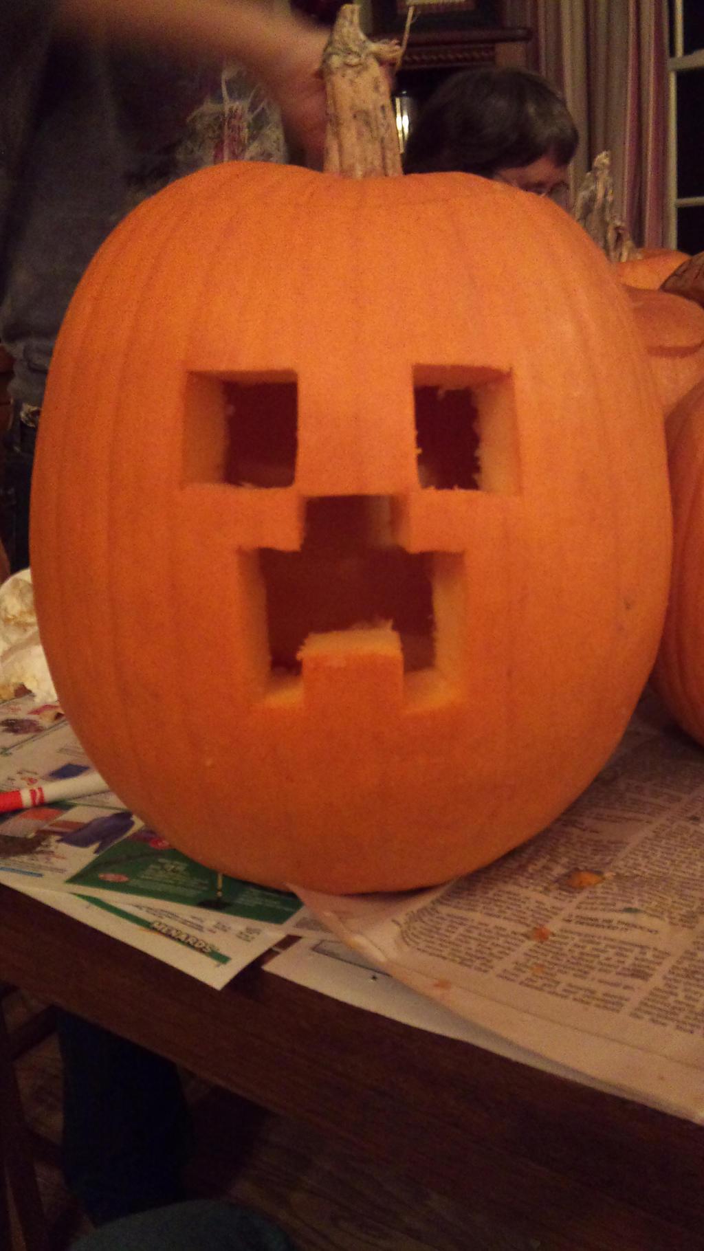 Minecraft creeper pumpkin by darkksaber on deviantart