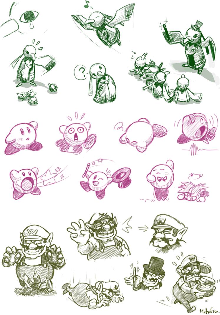 February Nintendo Doodles by Frario