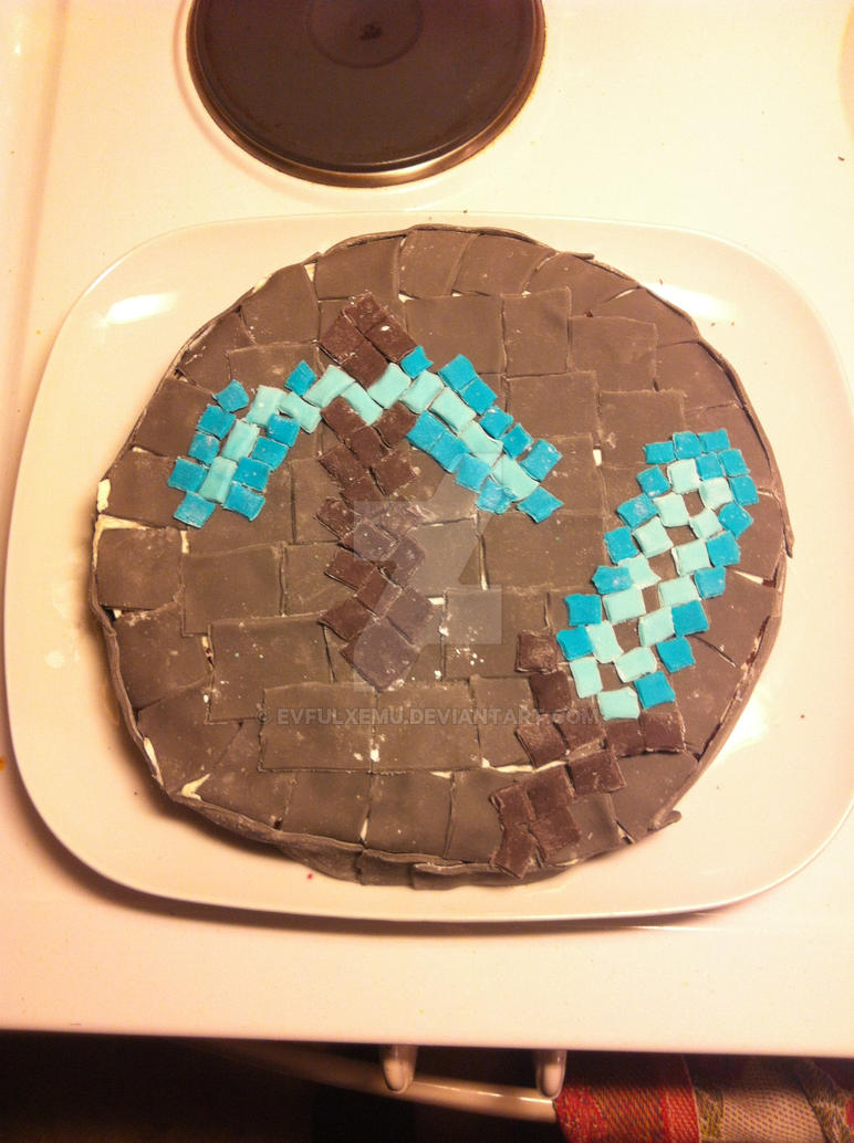 Minecraft Cake - Diamond Tools by EvfulxEmu