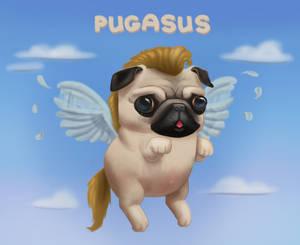 Pugasus by PicassoProtege