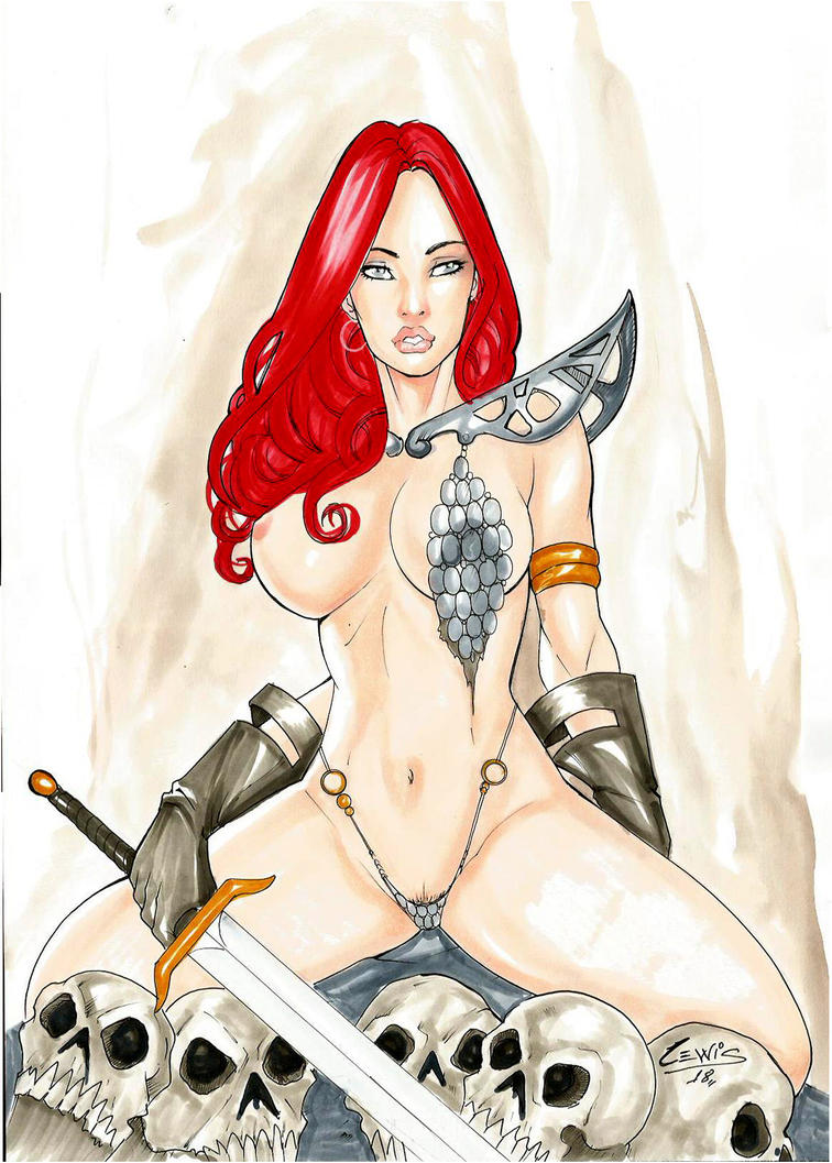 Redsonja by Lewiscomicarts