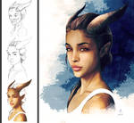 Tiefling Girl Stages