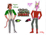 Kotetsu and Barnaby Tiger and Bunny Anthros by Crystleeart01