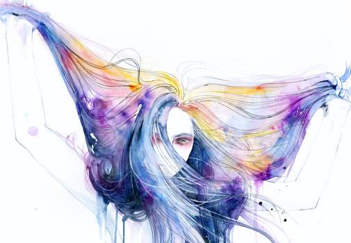 Big Bang in watercolor