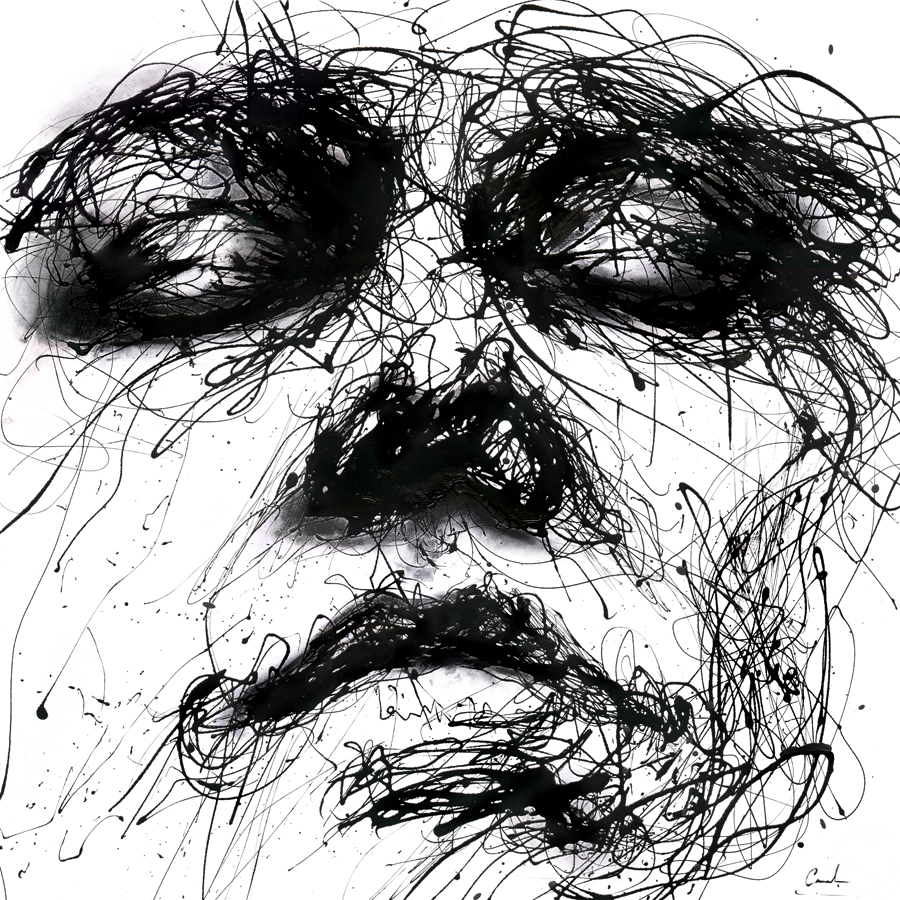 Line Art Painting Images : Waiting by agnes cecile on deviantart