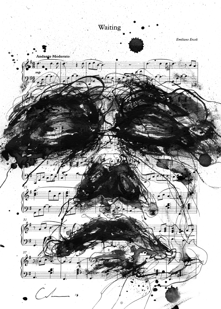 Waiting on Sheet Music by agnes-cecile on DeviantArt