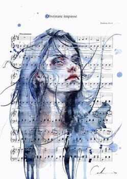 Obstinate Impasse on Sheet Music