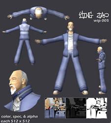 ying jao-game model-wip0005 by kurocrash
