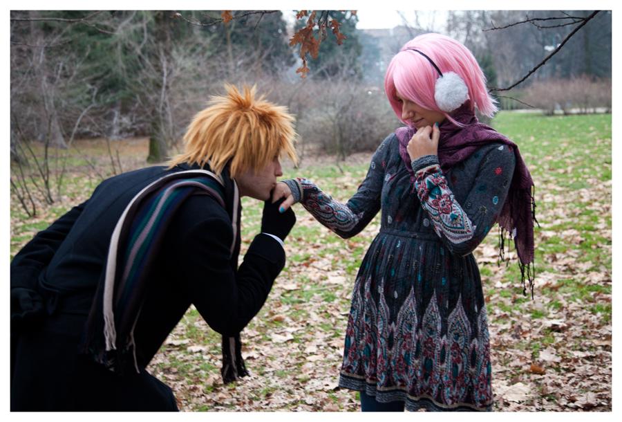 Narusaku Hand's Kissing by SenninUzumaki