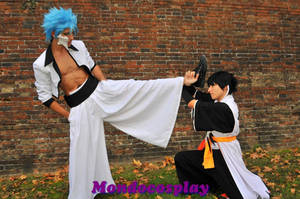 grimmjow vs soi fong cosplay by SenninUzumaki