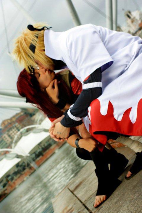 Minato and Kushina-Kiss by SenninUzumaki