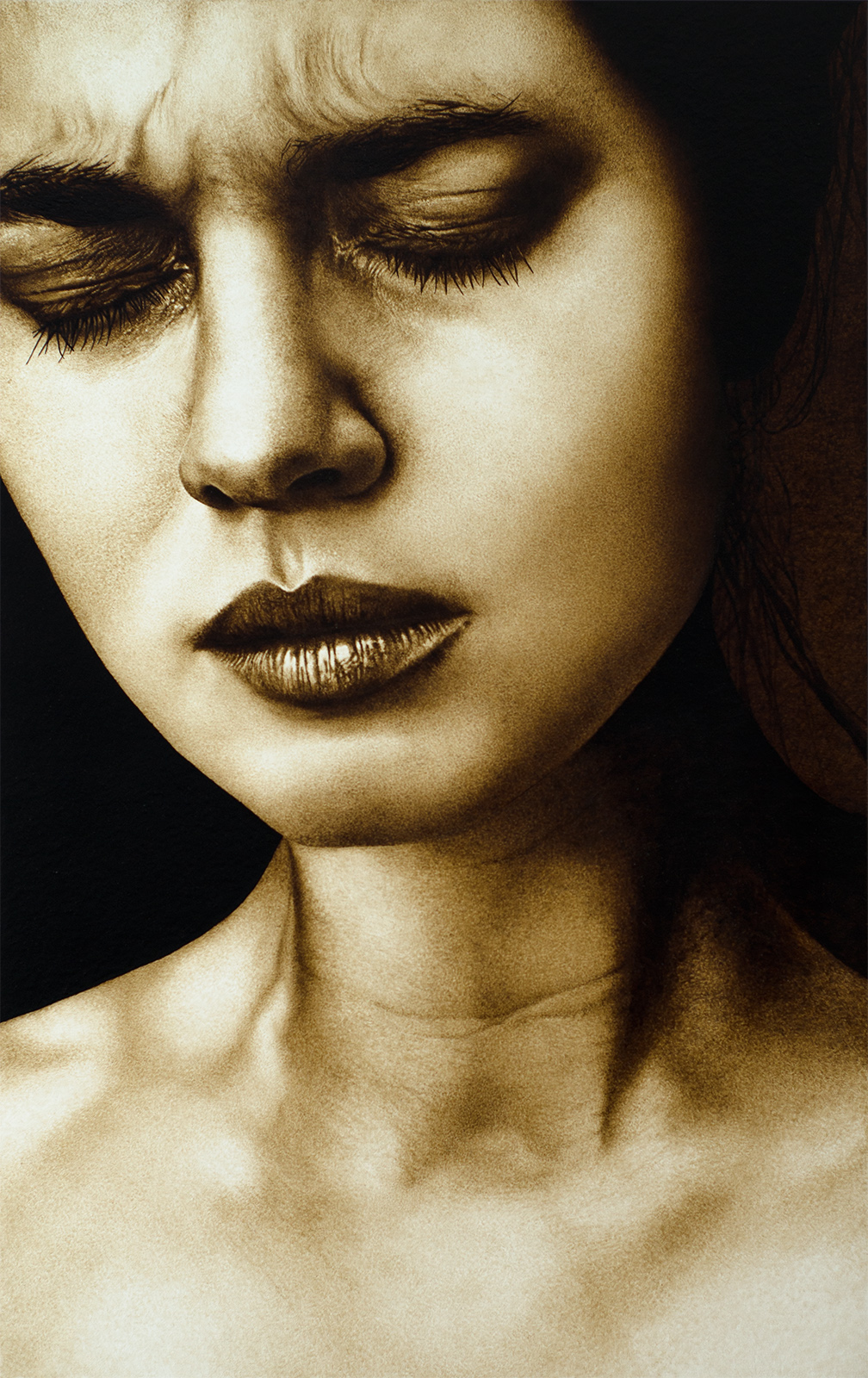 Coffee painting 17 by neutrinoz on deviantart for Painting with coffee