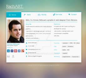 Rachart Web template for sale
