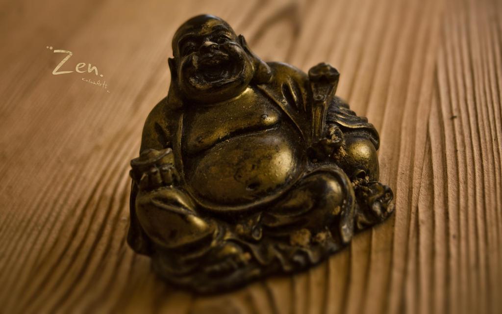 Zen Laughing Buddha Wallpaper By KalumArts