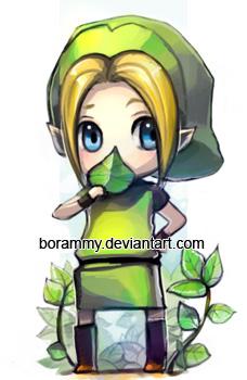 LOZ- Green Link Keychain by borammy