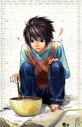 Death Note - L loves cake