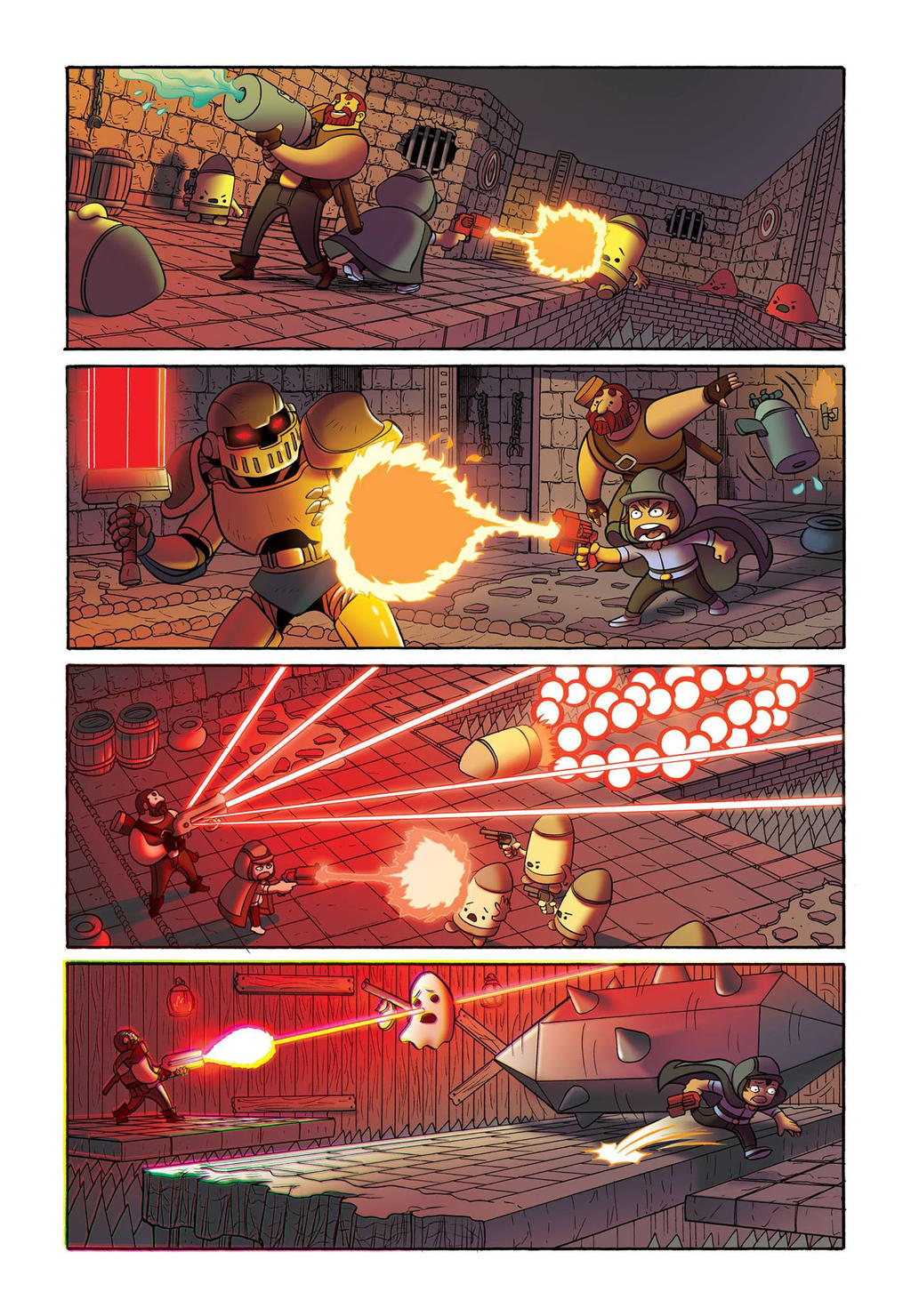 Enter the Gungeon Comic Book Page