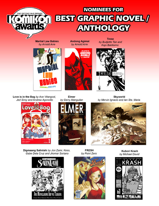 KA09: Graphic Novel Nominees by komikon