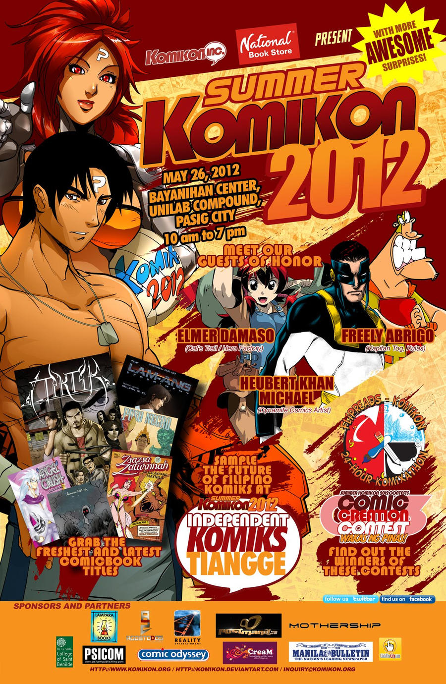 Official Poster - Summer KOMIKON 2012 by komikon