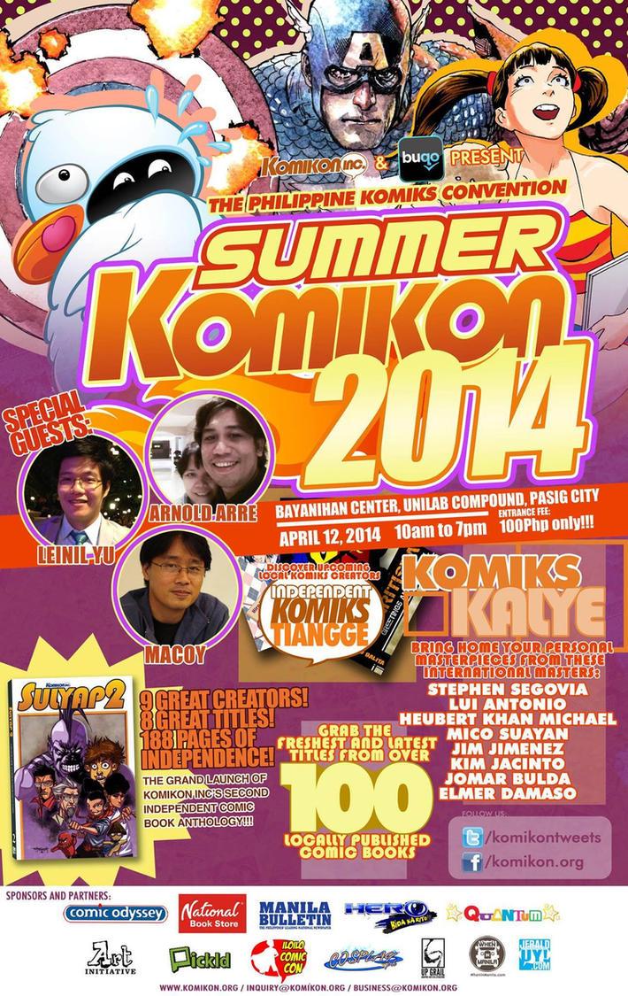 Summer Komikon 2014 Poster by komikon