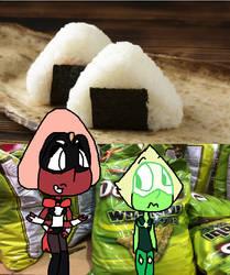 Chibi dorito rice ball things