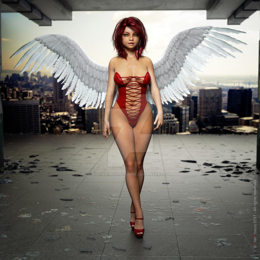 Digital Beauty Series - Red Angel (Oct17) by Digital-Beauty-Serie