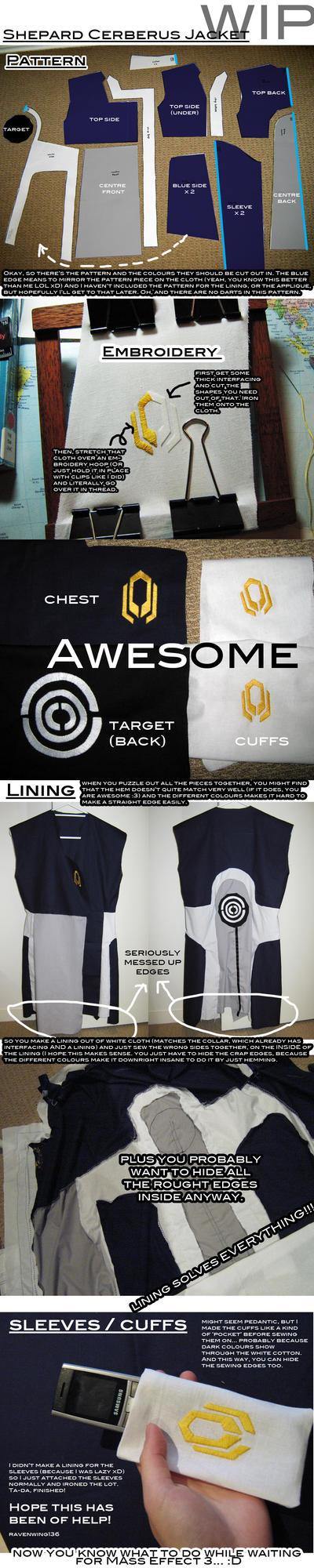 Shepard Cerberus Outfit - WIP by ravenwing136