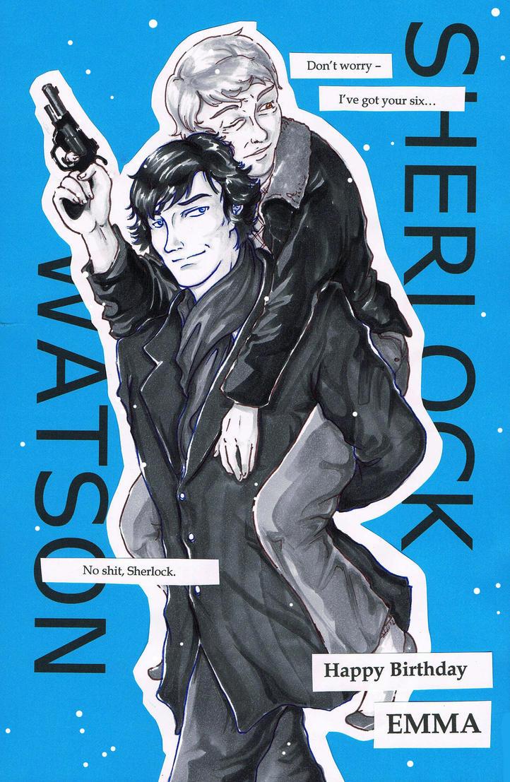 Gift: Sherlock and Watson by ravenwing136