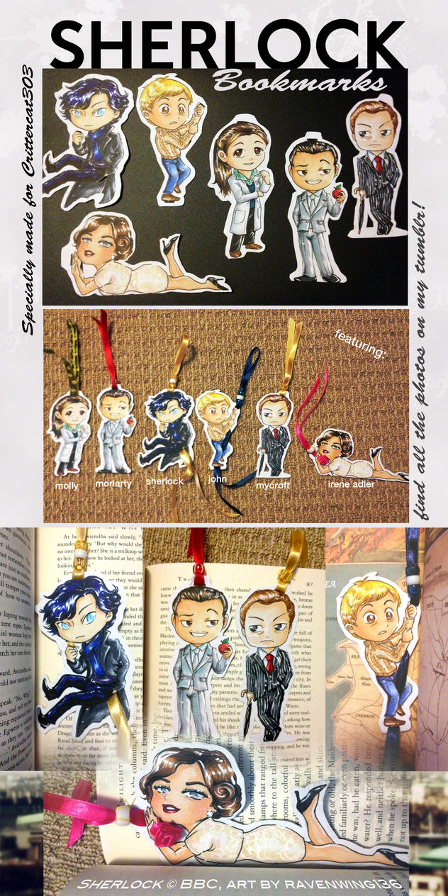Sherlock Bookmarks! by ravenwing136