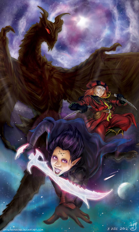 Skyrim: Facing Alduin by ravenwing136