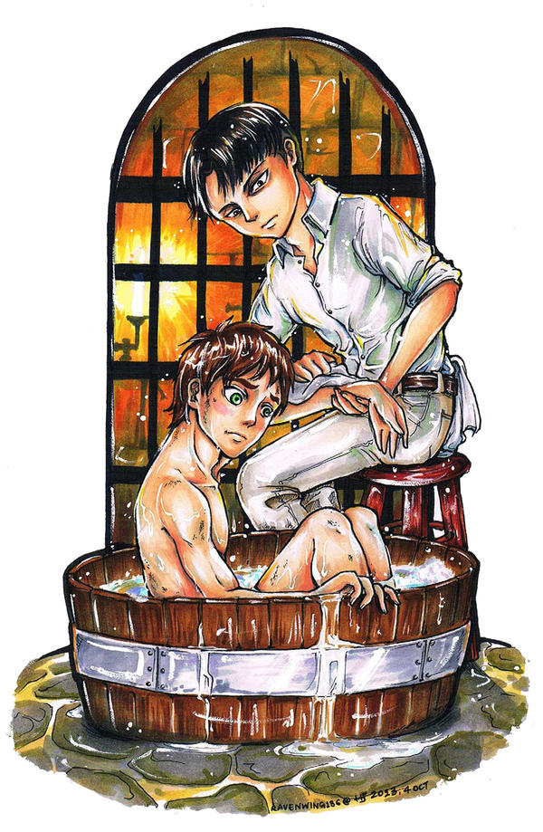 SnK: Bathtime by ravenwing136