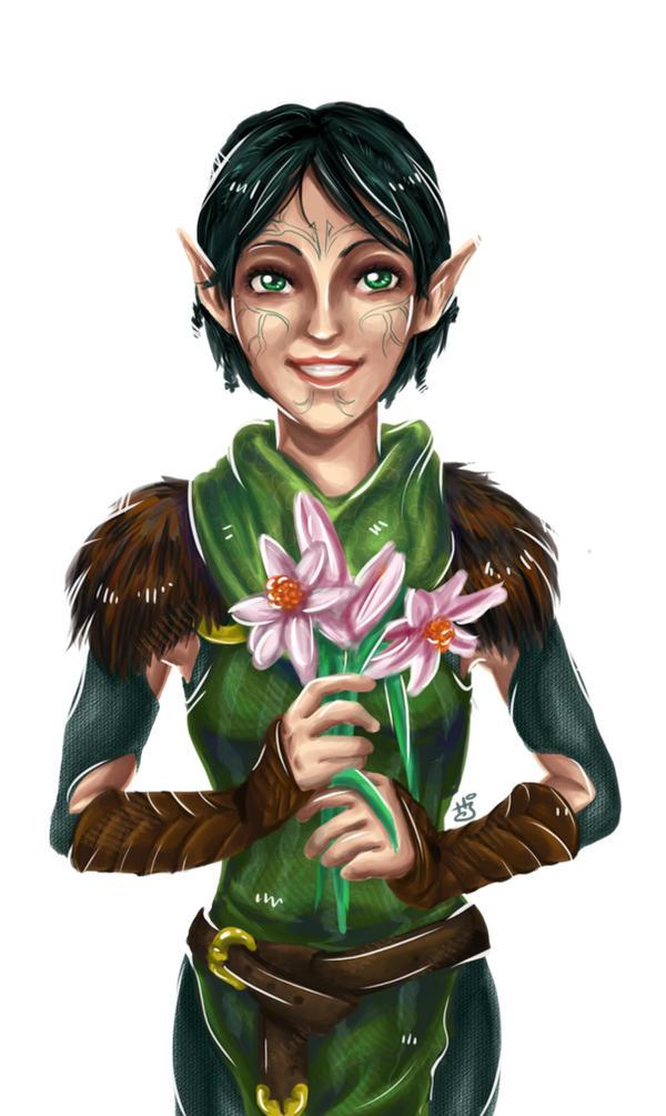 DA2: Flowers by ravenwing136